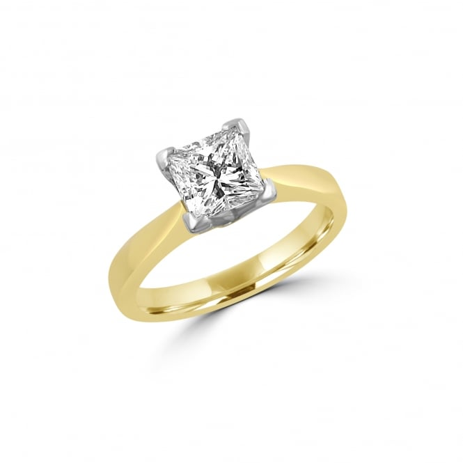Pre-owned 1.03ct Princess Diamond Solitaire Engagement Ring