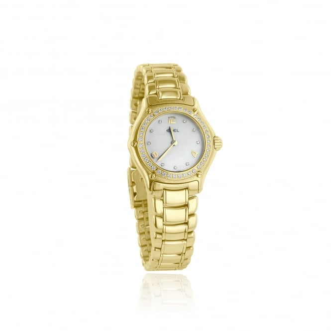 Pre-Owned 18ct Gold Ebel Watch With Diamonds