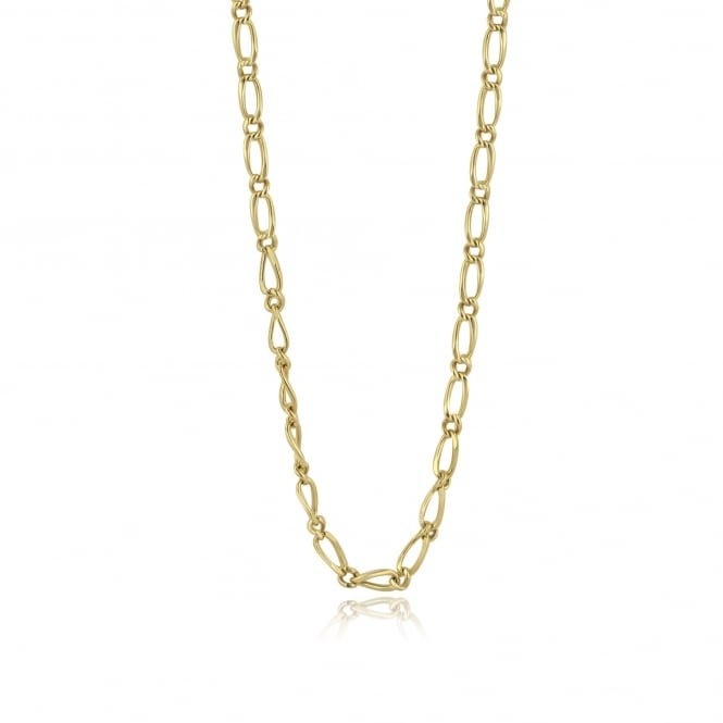 "Pre-owned 9ct Gold Figaro 17"" Chain"