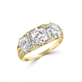 Pre-owned Circa 4ct Three Stone Ring