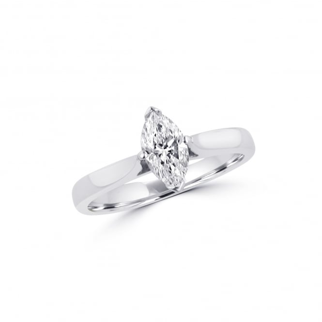 Pre-owned GIA Certified 0.50ct marquise Diamond Platinum Solitaire Ring RPN36434
