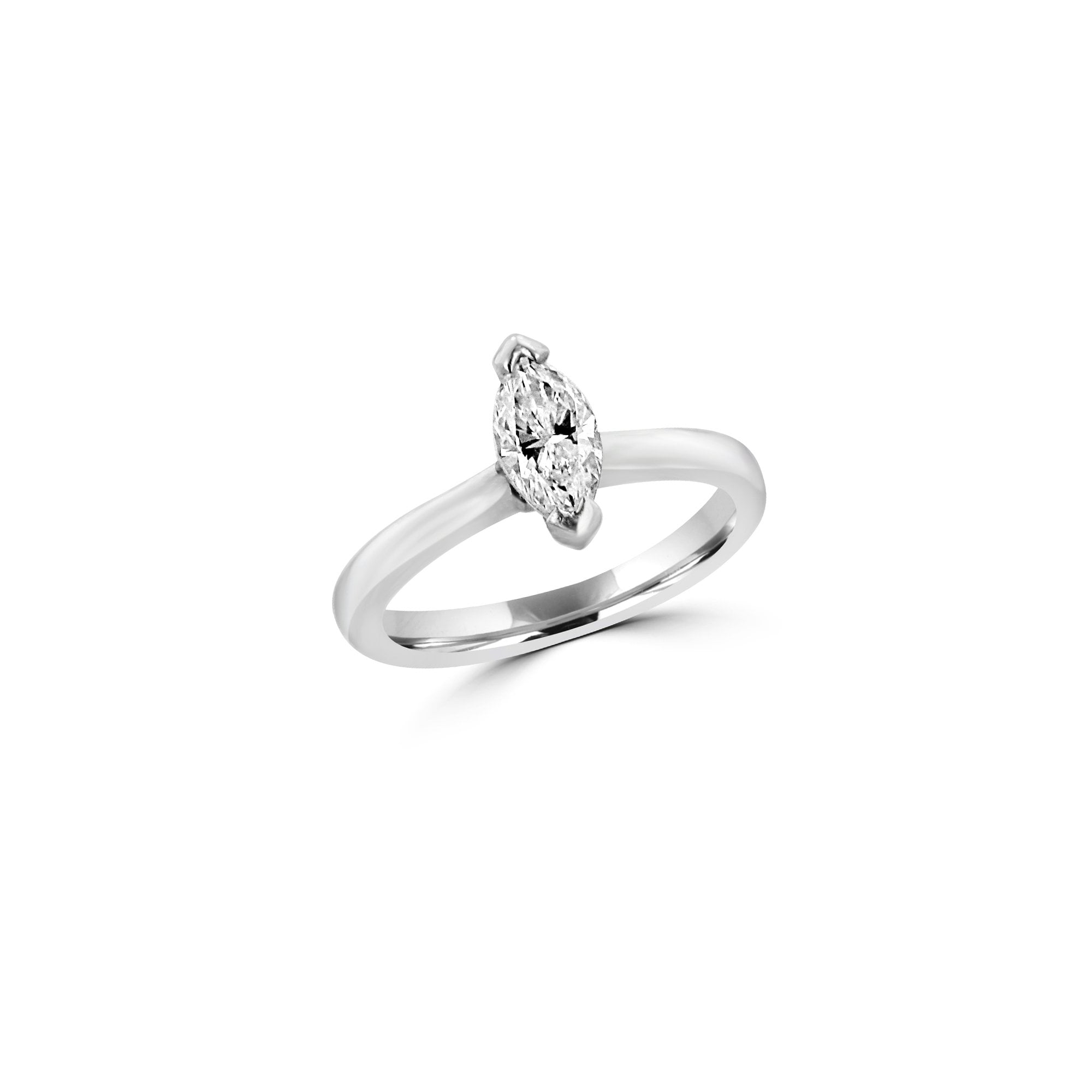 Pre Owned Half Carat Marquise Diamond Solitaire Engagement Ring Womens From Avanti Of Ashbourne Ltd Uk
