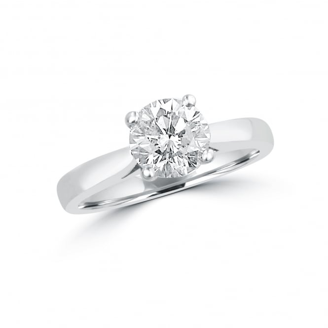 Pre-owned Platinum 1.10ct Round Diamond Solitaire Ring
