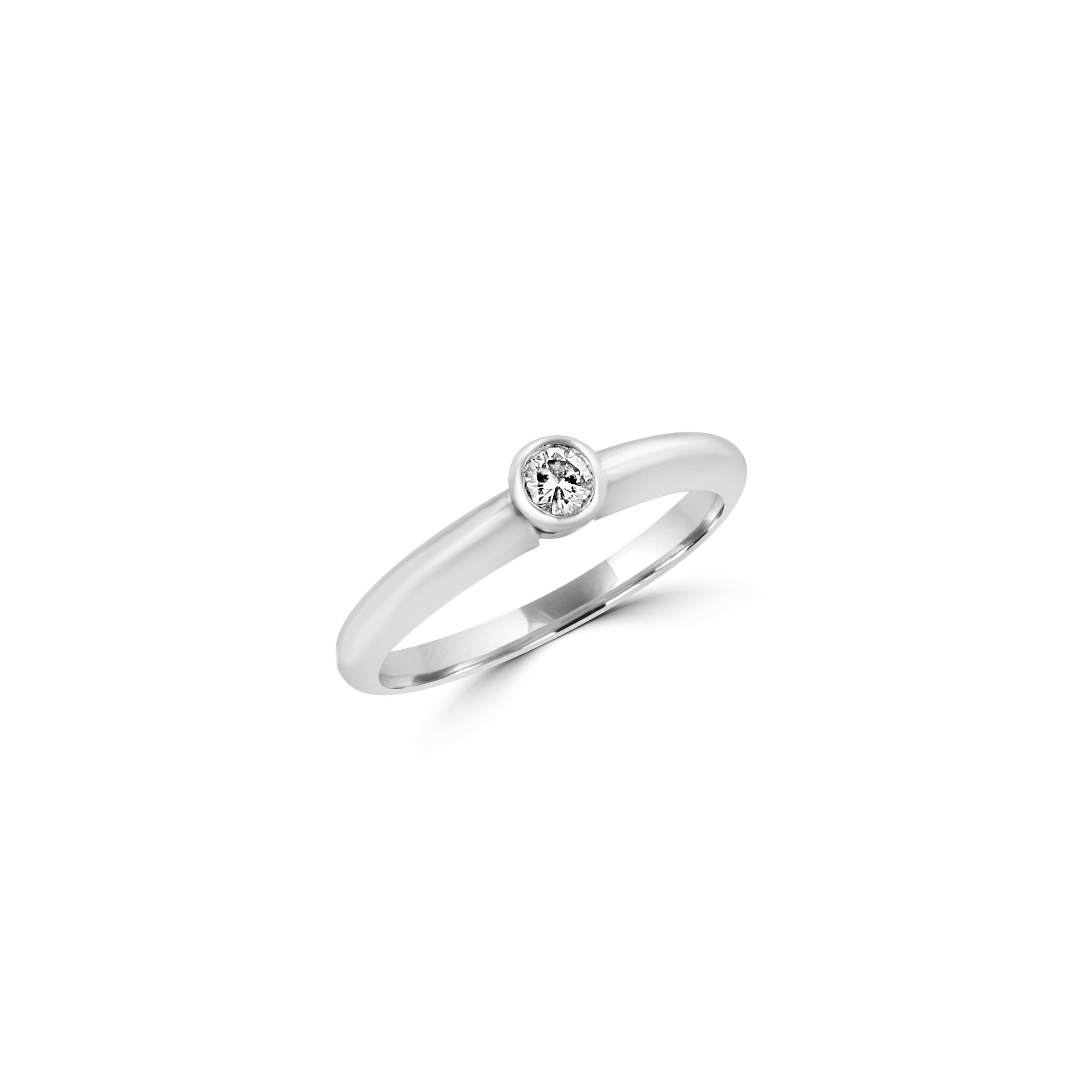 Platinum Engagement Rings Sale Uk: Pre-owned Platinum Small Round Diamond Solitaire Ring
