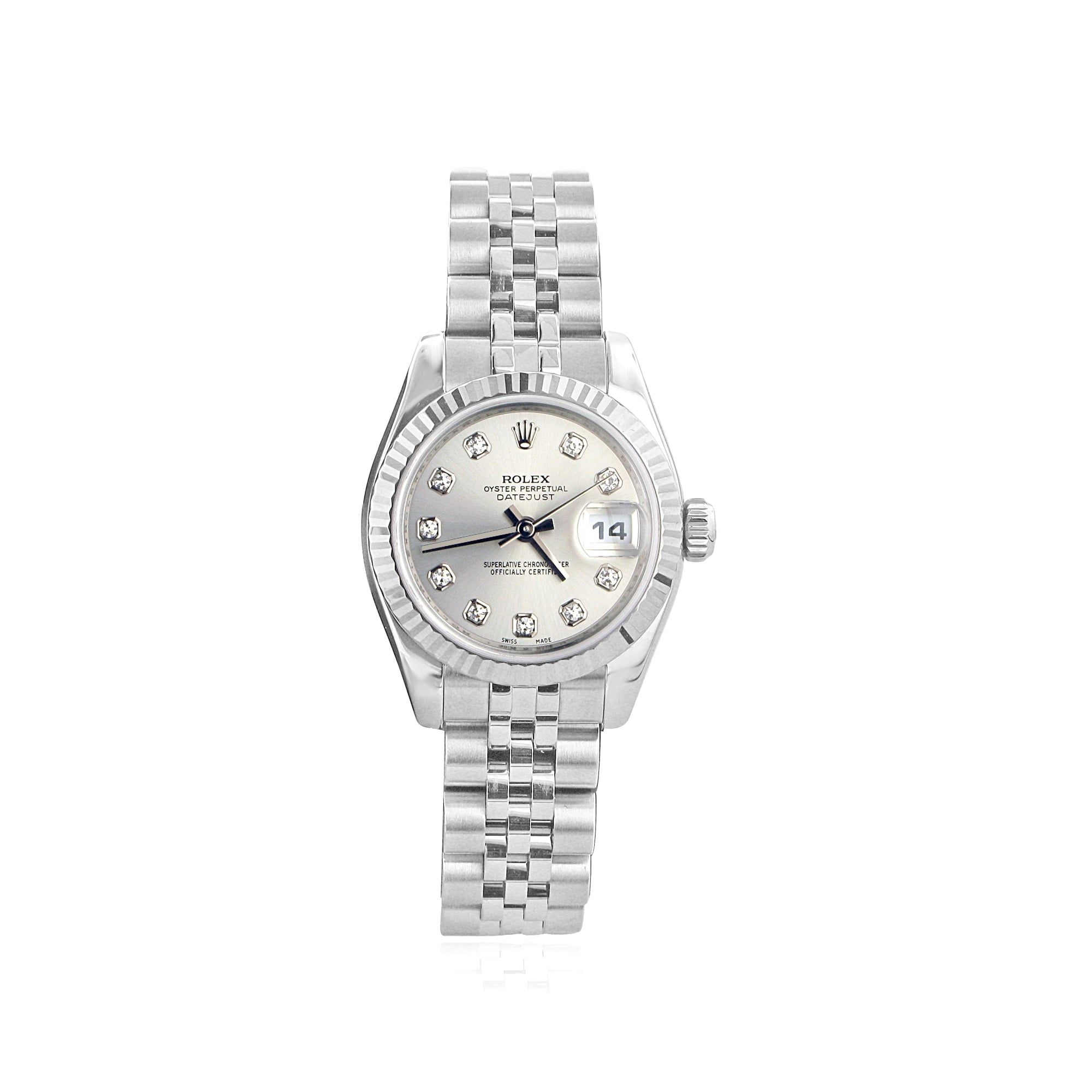 Rolex (Pre-owned) Pre-owned Womens Steel Rolex Watch with ...