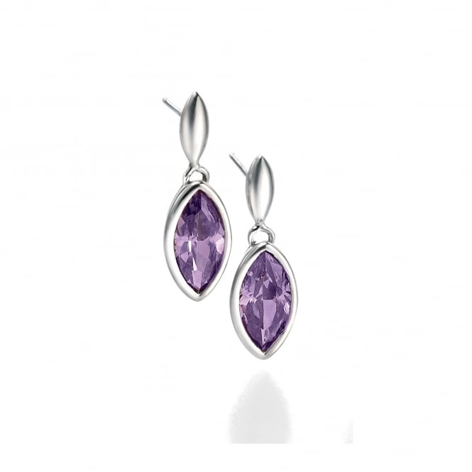 Fiorelli Purple Cubic Zirconia Silver Earrings E3677M
