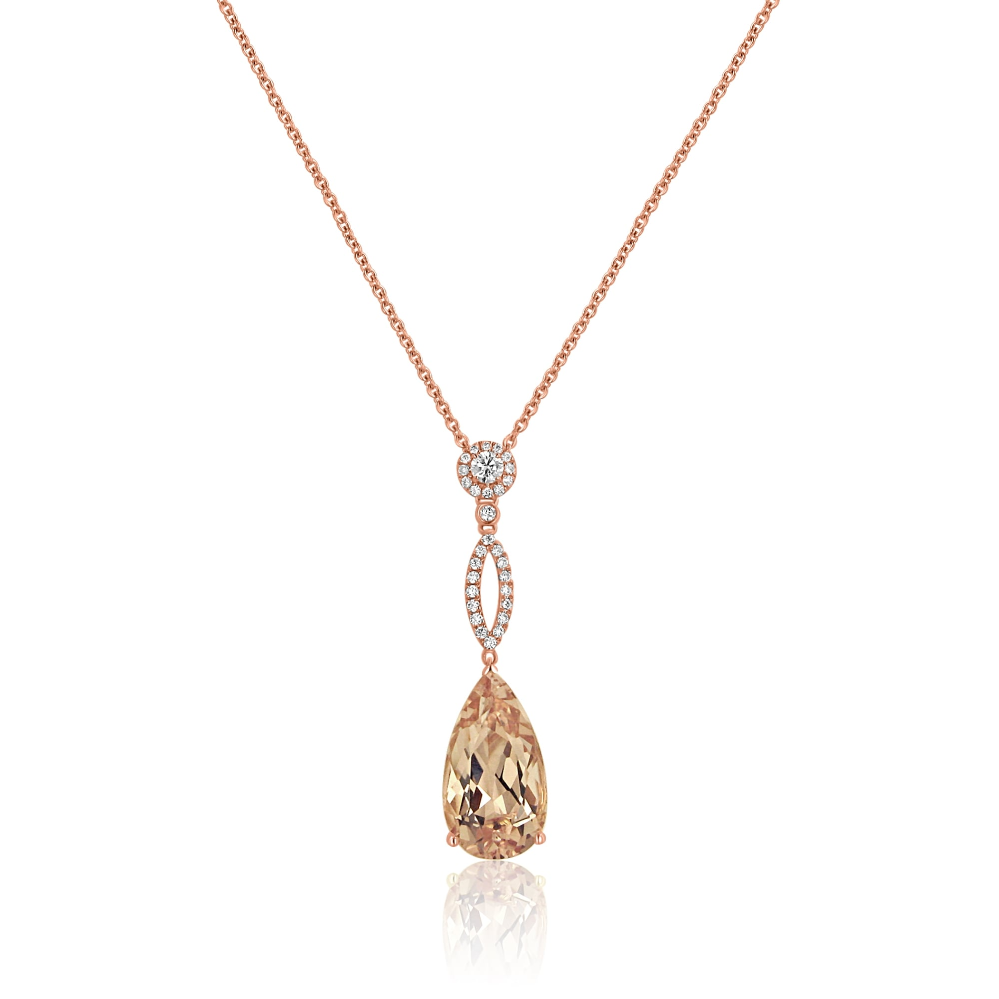 vian diamonds levian strawberry vanilla with tw gold chocolate pendant in and le morganite aquamarine necklace peach
