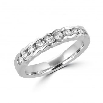 Ring Set With Ten Round Diamonds Designed By Avanti RPT285