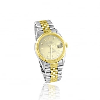 Men's Steel and Gold Rolex Datejust Watch