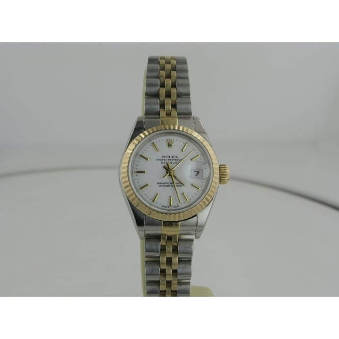 Rolex (Pre-owned) Womens Steel and Gold Pre-owned Rolex Watch (2002)