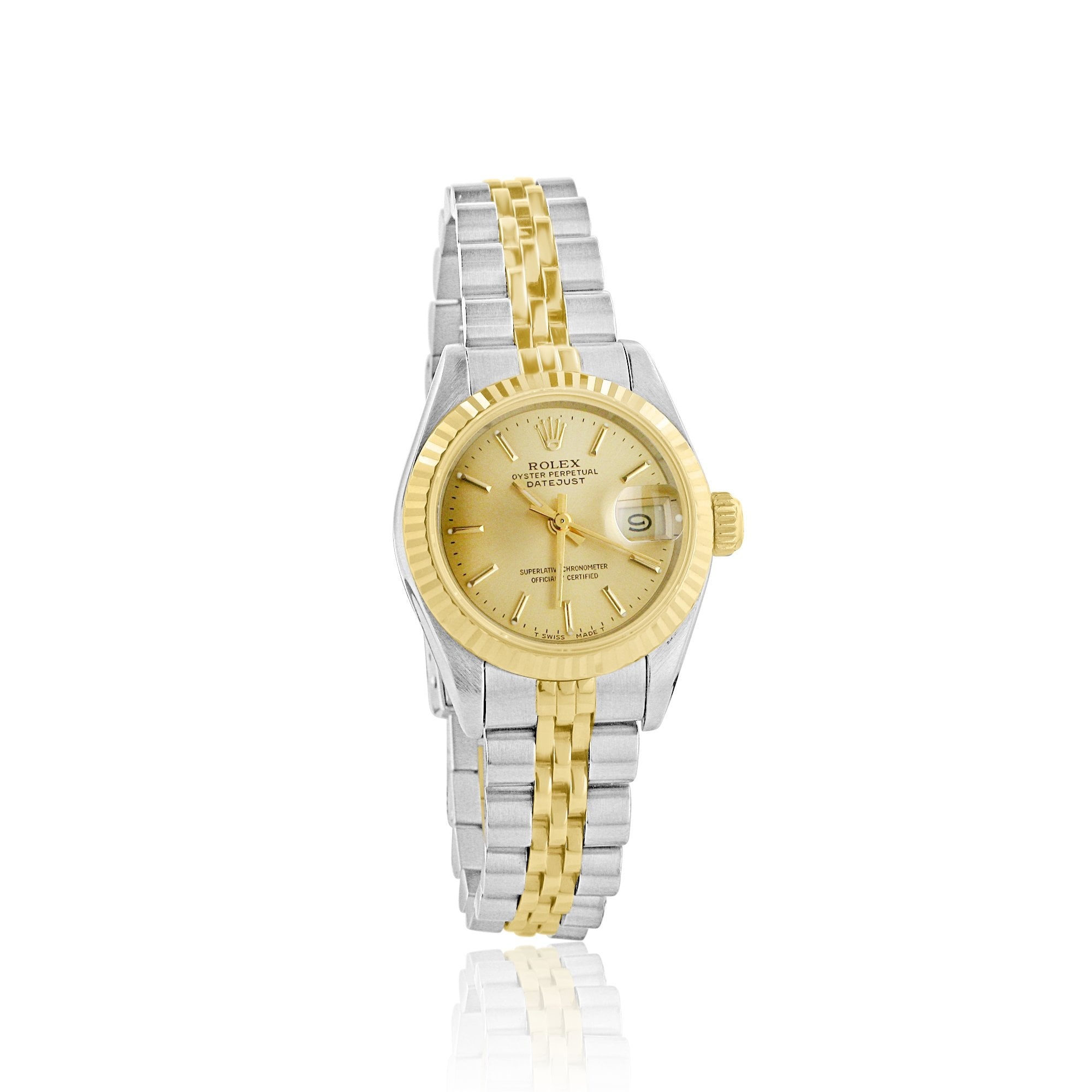 Ladies Steel And 18ct Yellow Gold Oyster Perpetual Rolex Datejust Watch 69173