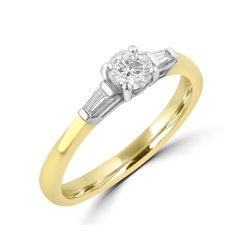 diamond halfway white products heirloom of band yellow baguette copy gold ring engagement rings liven