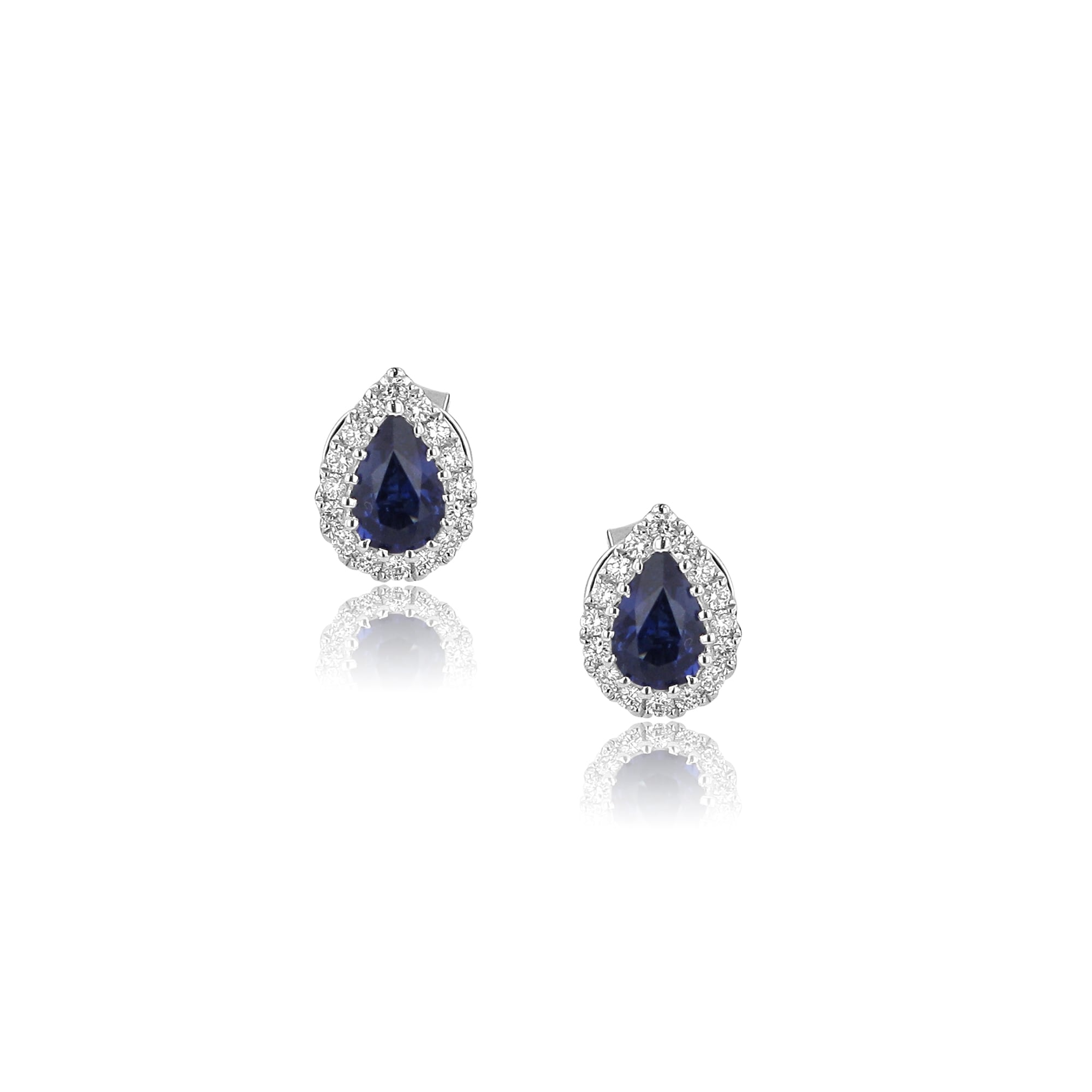 earrings itm sapphire silver diamonds created in ct with stud sterling
