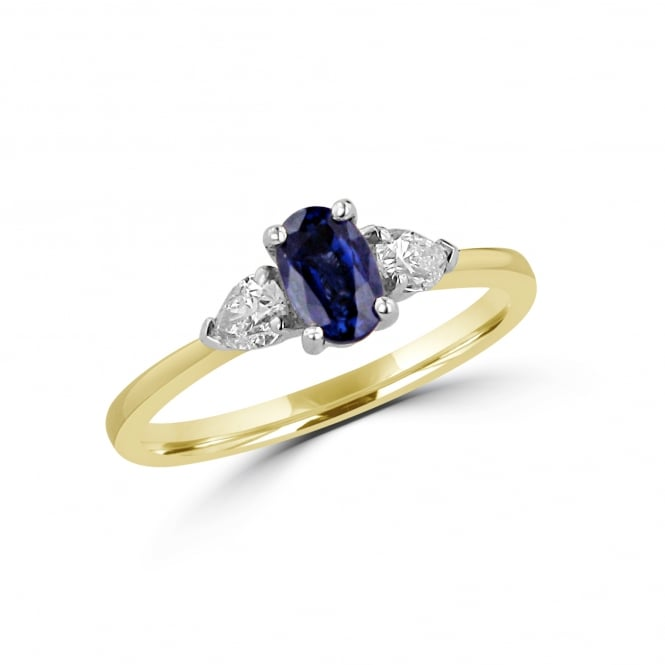 Sapphire and Diamond Three Stone Ring RKN3759