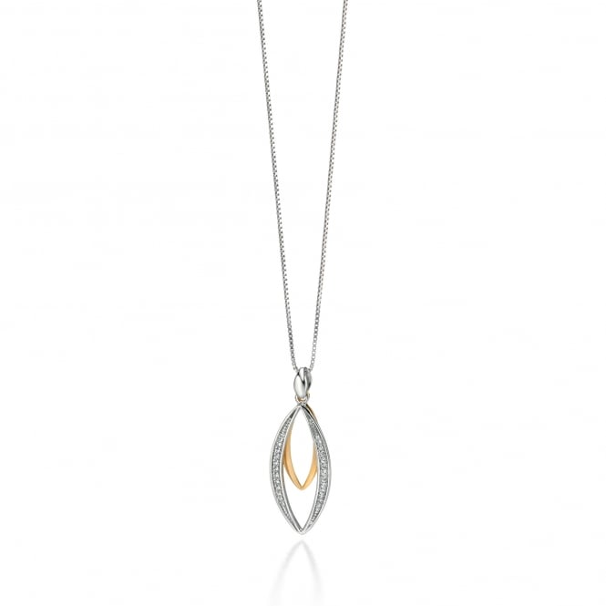Fiorelli Silver and Gold Plated Double Pendant and Chain P3953C