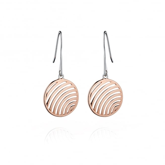 Fiorelli Silver and Rose Plated Drop Earrings