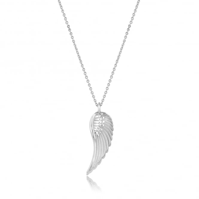 Avanti Silver Deigned Feather Wing Necklace PS3737