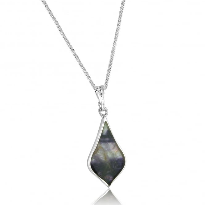 Silver Blue John Pendant and Chain PS1868 + CS2941