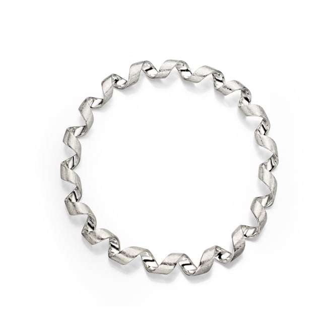 Silver Coiled Twist Bangle