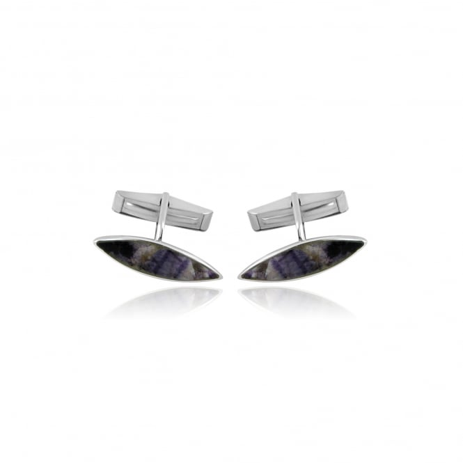Silver Marquise Shape Cufflinks AS2739