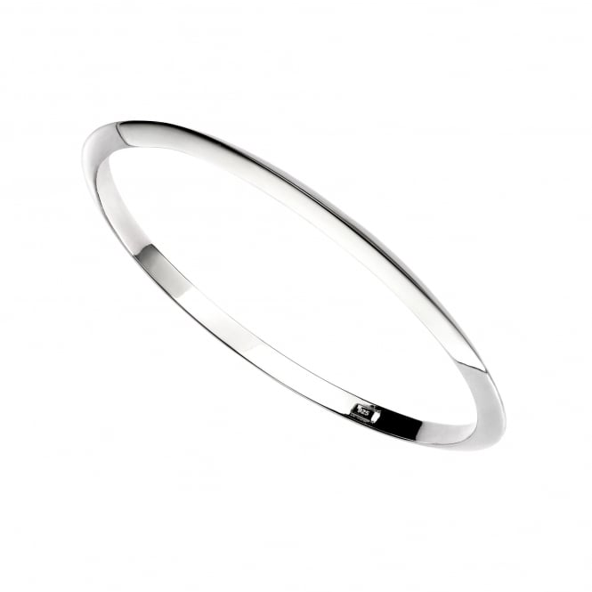 Silver Triangular Section Bangle LS3632