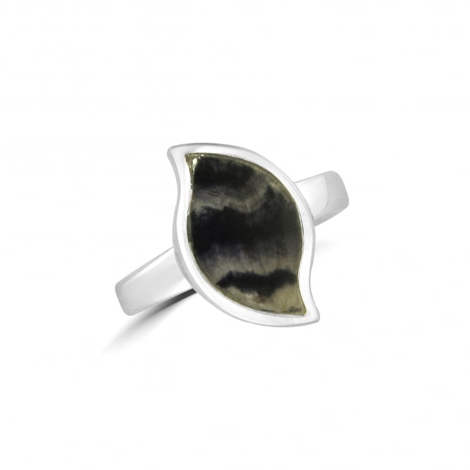 Silver Wave Blue John Ring