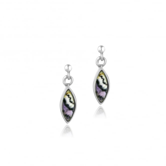 Small Marquise Drop Blue John Drop Earrings ESD27202