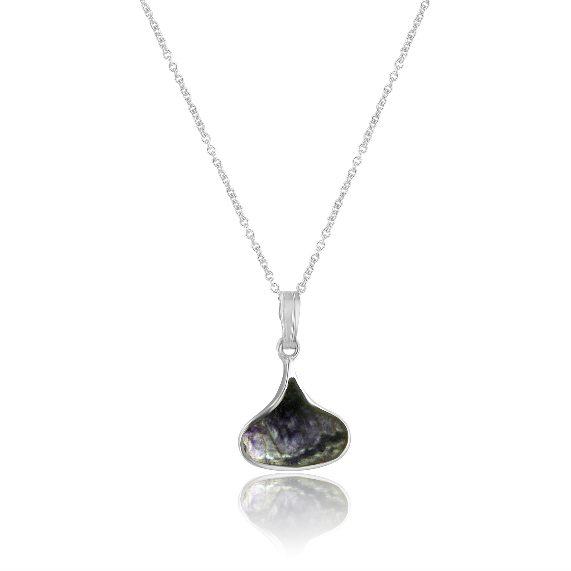 Blue john small silver short wide teardrop blue john pendant and small silver short wide teardrop blue john pendant and chain ps1885 cs3056 aloadofball Image collections
