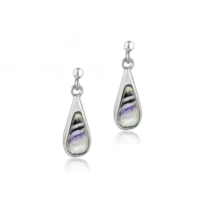Small Tear Drop Blue John Drop Earrings ES1126