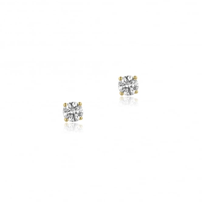 SOLD 18ct Yellow Gold 0.72ct Diamond Earrings