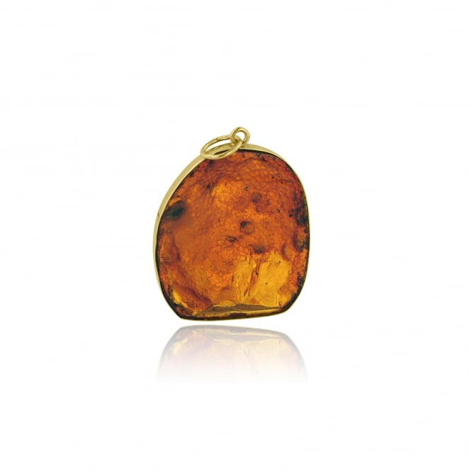 SOLD Pre-owned Amber Pendant with 18ct Gold Handmade Setting PY3693