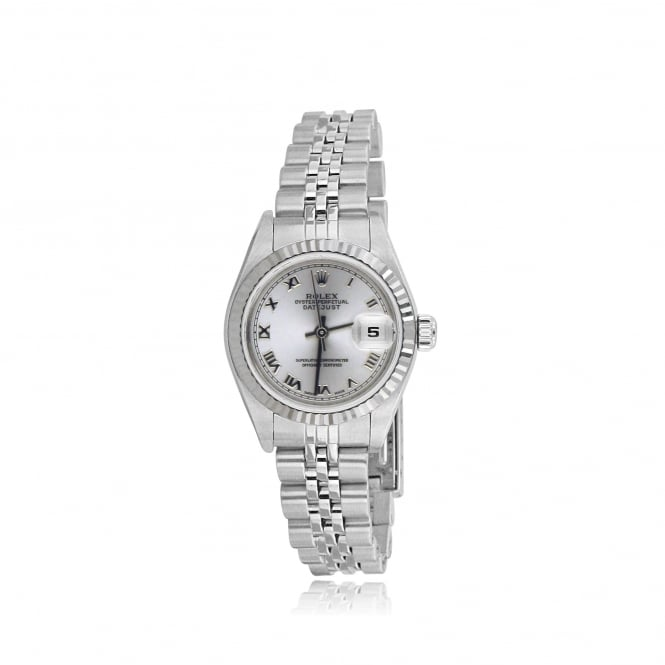 Rolex SOLD Womens Oyster Perpetual DateJust Watch in Steel with Silver Dial