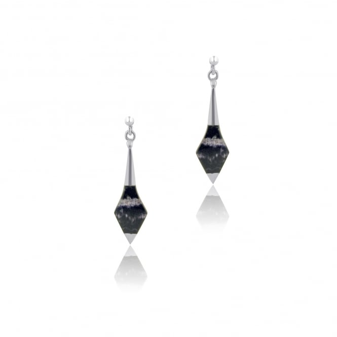 Blue John Spear Shape Silver Drop Earrings ESD22440