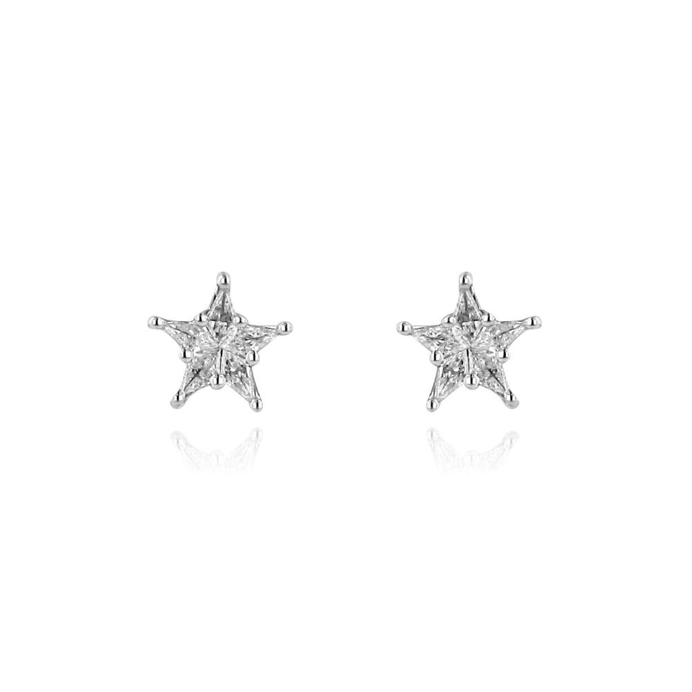 Star Shape Diamond Stud Earrings - Womens from Avanti of ...