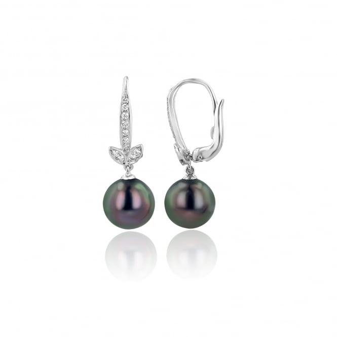 Tahitian Pearl and Diamond Earrings EWD37119