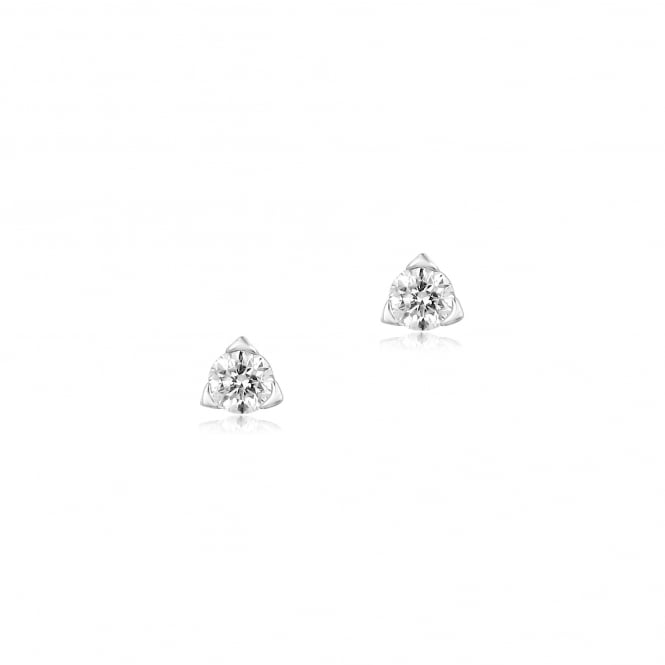 Triangular Set Round Brilliant Cut Diamond Earrings 0.48ct