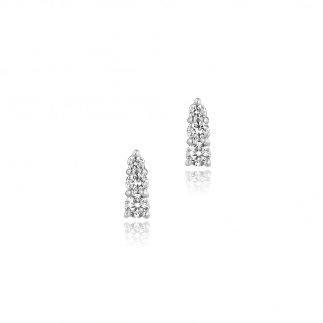Trilogy Diamond Stud Earrings in 18ct White Gold EWT36266