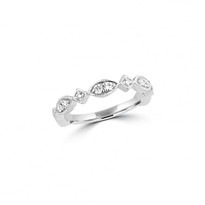 Vintage Inspired Delicate White Gold Diamond Ring