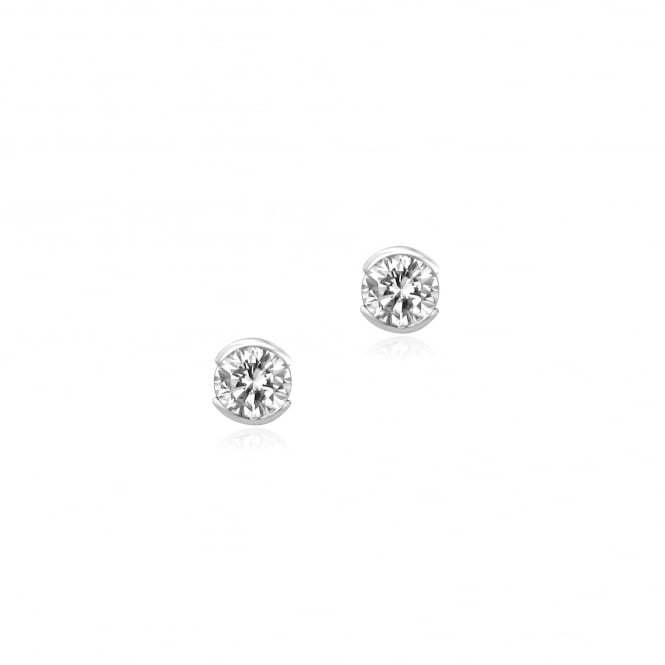 White Gold Round Diamond Earrings 0.48ct Total EWT30360