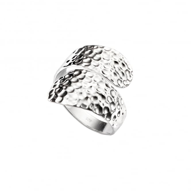 Wide Silver Crossover Wrap Ring RSD36375