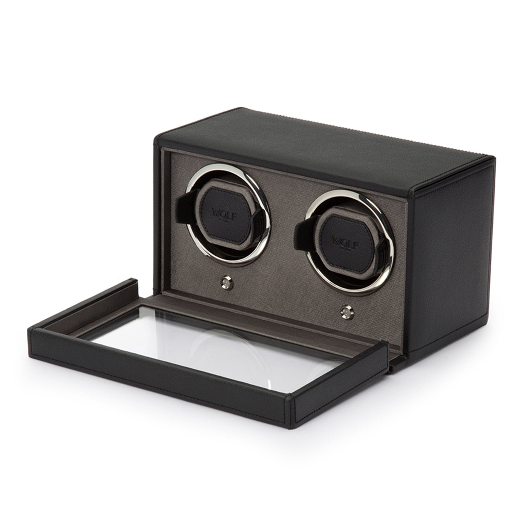 wolf watch winder jewellery box black double watch winder gifts