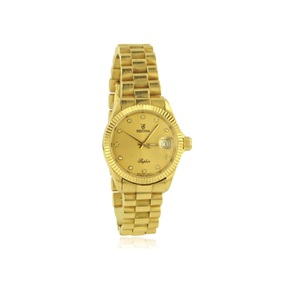 womens 18ct gold festina dot womens