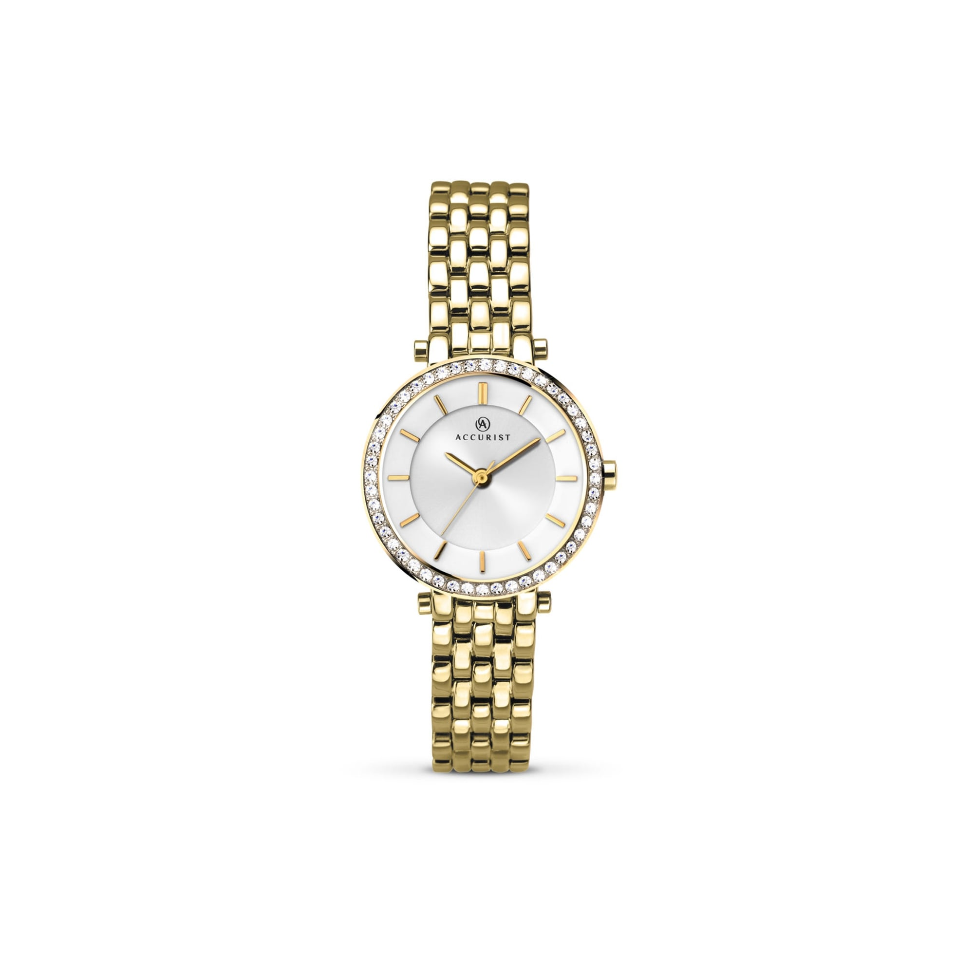 Accurist Watches Womens Accurist Gold Plated Watch With Swarovski ... aab6fb63b96f