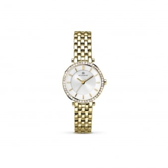 Womens Accurist Gold Plated Watch With Swarovski Crystals 8122