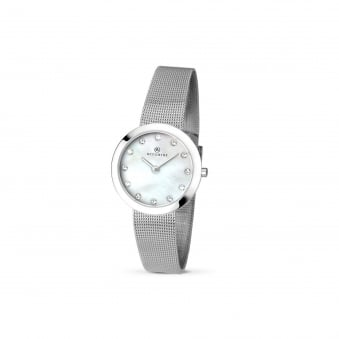 Womens Accurist Steel mesh Strap Watch With Mother of Pearl Face 8126