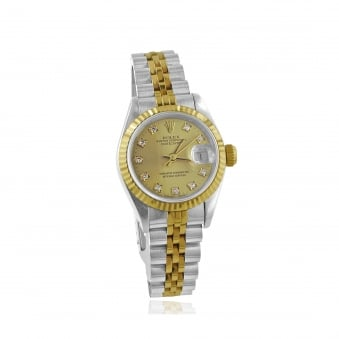 Womens Diamond Dot Dial Rolex Watch