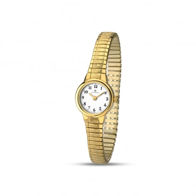 Accurist Womens Gold Plated Watch With Expanding Strap 8050