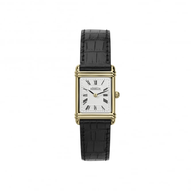 Michel Herbelin Womens Deco Inspired Watch With Leather Strap 17478/P08