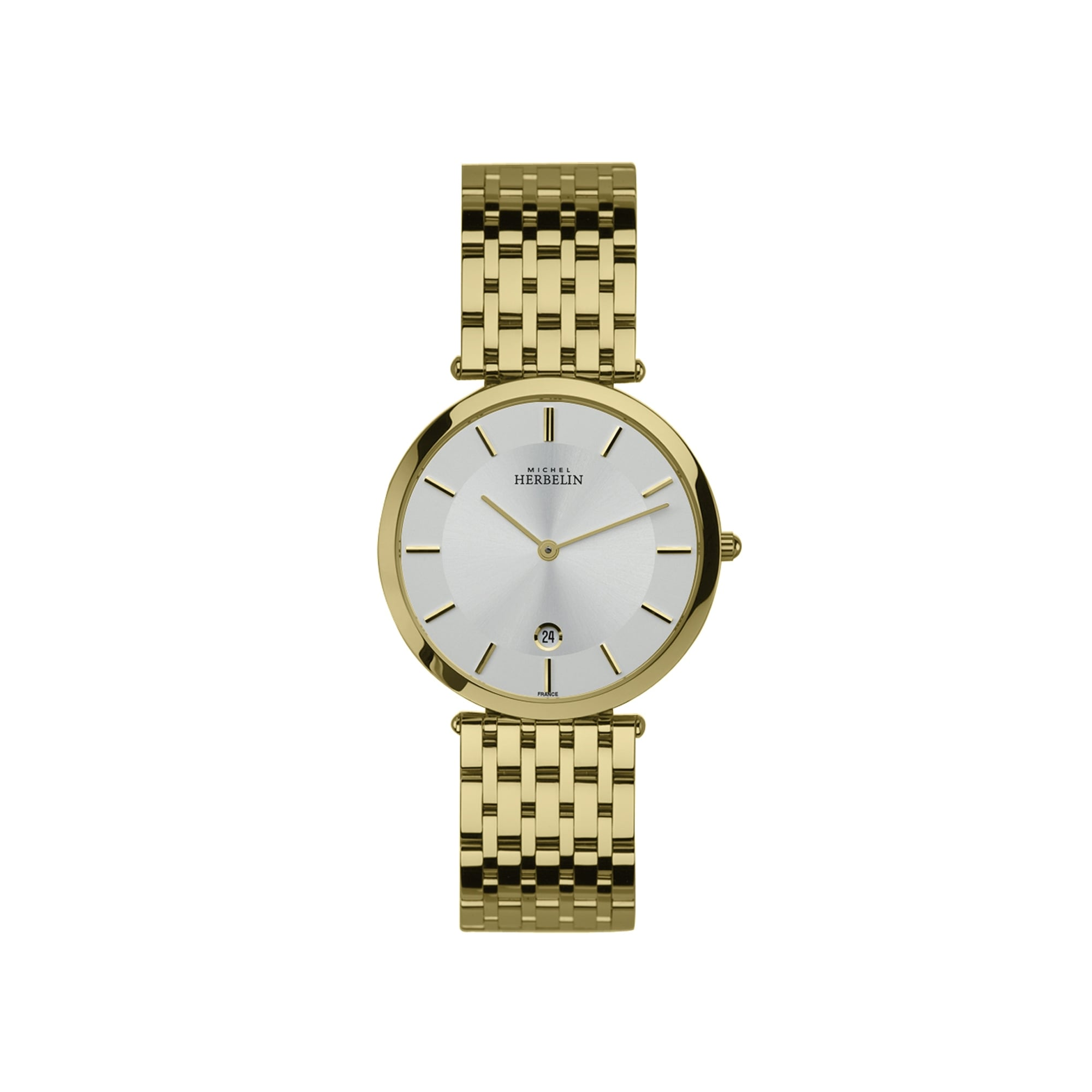 the mesh watch silver s women chronograph gold products caseback vincero womens luxury kleio watches