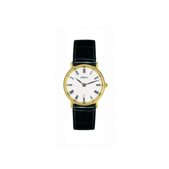 Womens Michel Herbelin Gold plated Watch With Leather Strap 16845/P01